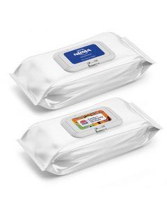 50 Pack Anti Bacterial Wipes (Branded)