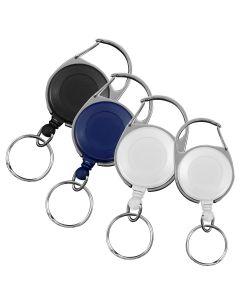 Stock Carabiner Badge Reels With Split Ring