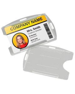 Clear Open Multi Orientation ID Holders