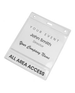 Clear Double Pocket ID Holders
