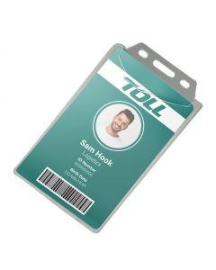 88 x 54 Portrait HD Rigid Enclosed ID Holder