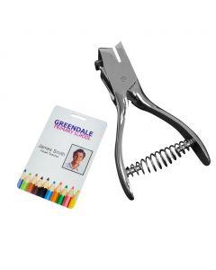 Plastic ID Card Hole Punch