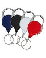 No-Twist Carabiner Split Ring Badge Reels